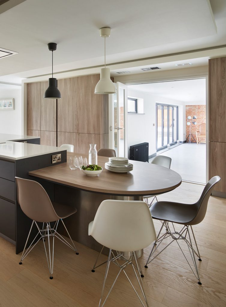 Casual modern contemporary kitchen seating area