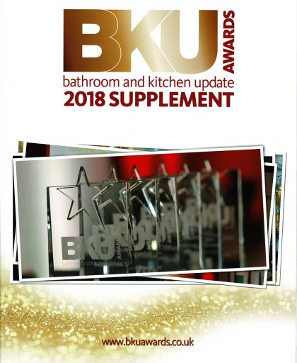 BKU awards 2018 supplement, bathroom and kitchen update magazine front page