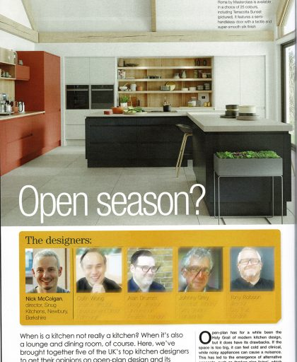 Article showing Nick McColgdan, Managing Director of Snug Kitchens Newbury in KBB review magazine