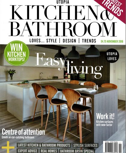 Snug Kitchens on front page of Utopia Kitchen & Bathroom Magazine